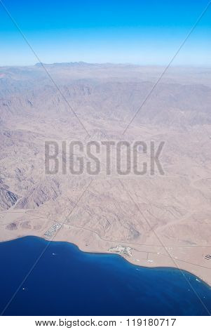 Sinai Peninsula from the bird's-eye view, Egypt