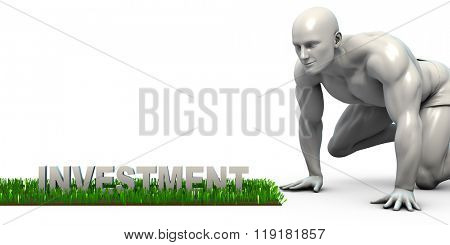 Investment Concept with Man Looking Closely to Verify