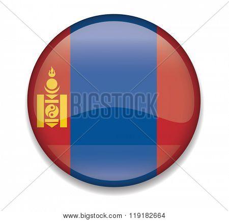 Mongolia Button Flag