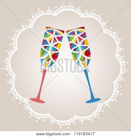 Unique celebration glasses artistic flair