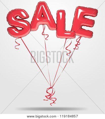 Vector Balloons Sale Text