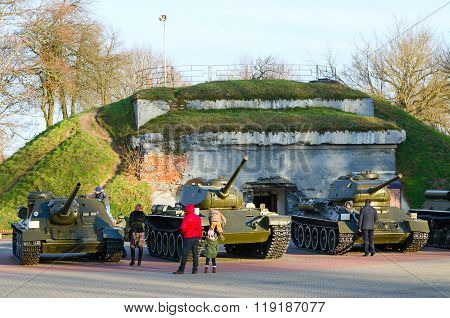 Military Equipment In Memorial Complex Brest Fortress Hero
