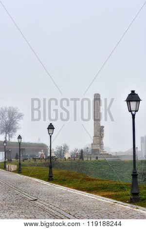 Alba Iulia, Romania - December 04, 2015. Walk Through The City Of Alba Iulia And Different Points Of