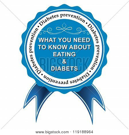 Diabetes prevention blue ribbon