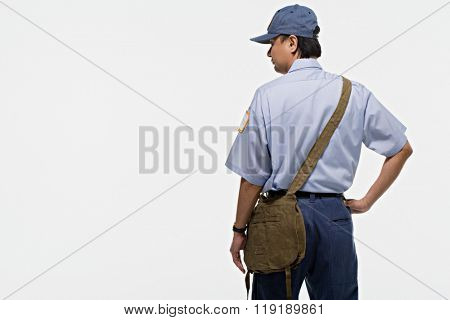 Portrait of a postman
