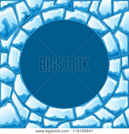 Ice seamless pattern