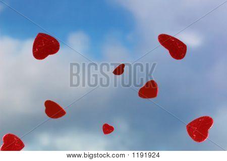 Raining Red Hearts
