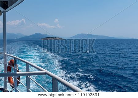 Sea View With Islands From Ship Deck