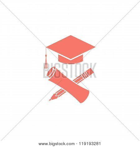 Graduate Education Logo Graduation Symbols Diploma, Pencil, Mortarboard, University Student Ceremony