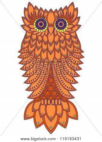 Amusing Orange Owl