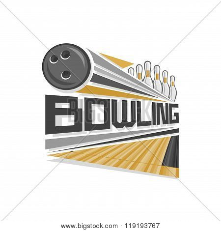 Vector logo for bowling sport