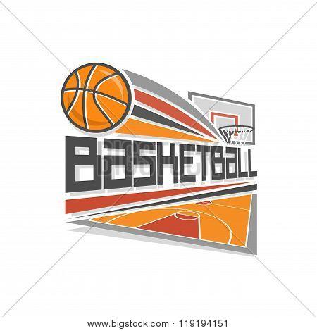 Vector logo for basketball sport