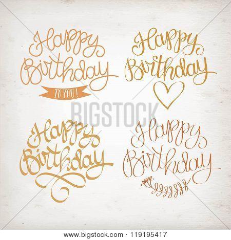 Hand Drawn Happy Birthday Title