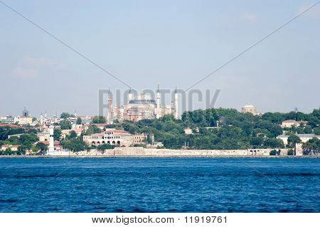 Istanbul cityview with Haghia Sophia