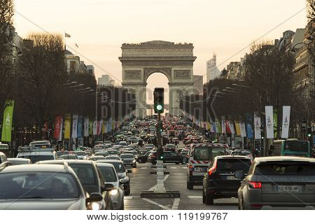 The Triumphal Arch, Paris, France.