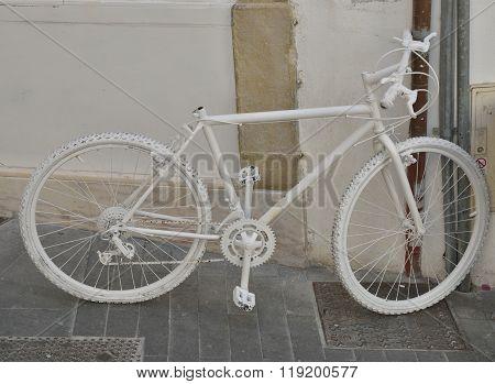 White Bike On Wall