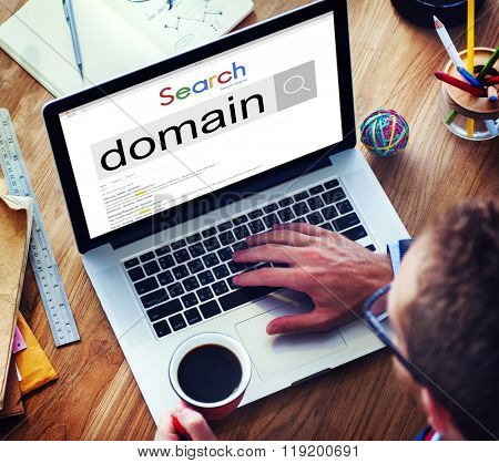 Domain Address Homepage Name Website Internet Concept