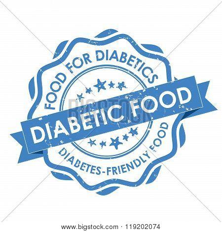 Diabetics friendly food - grunge blue label