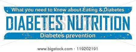 Diabetes Nutrition blue grunge badge
