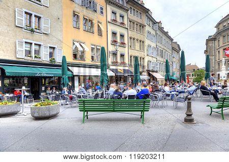Geneva. Summer Cafe