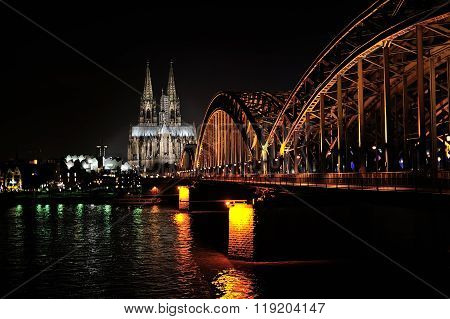 Hohenzollern Bridge And Cathedral