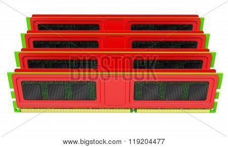 3D Computer Ram Memory Kit