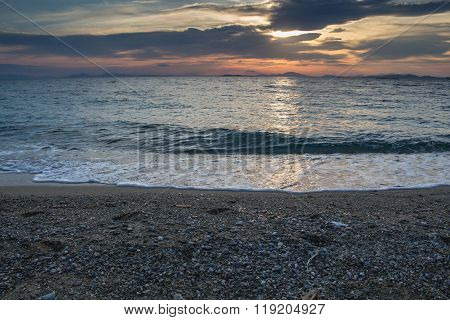 Sunset And The Beach, Greece