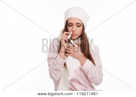 Young sick woman