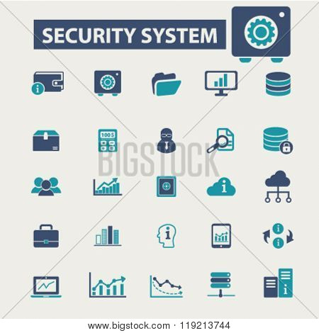 security, technology icons