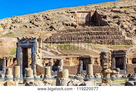 Tomb of Artaxerxes III above Persepolis, Iran