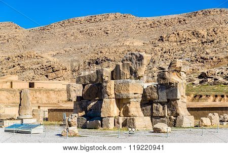 View of the Unfinished Gate at Persepolis, Iran