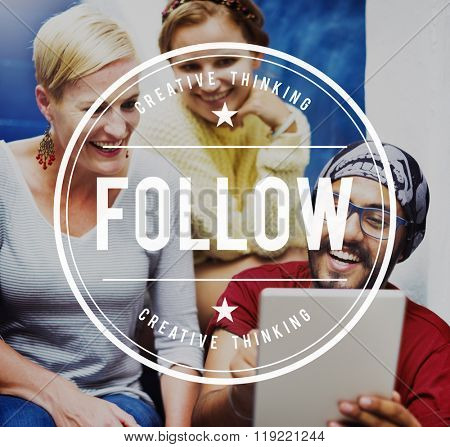 Follow Followers Following Share Sharing Social Concept