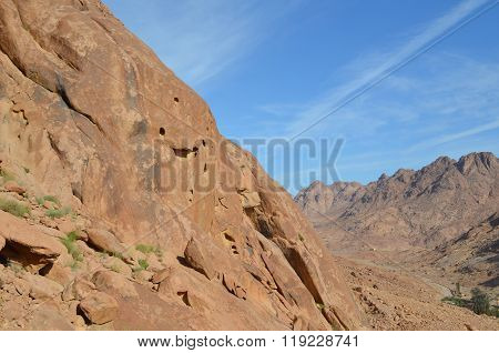 Sinai Mountains Near St. Catherine Monastery