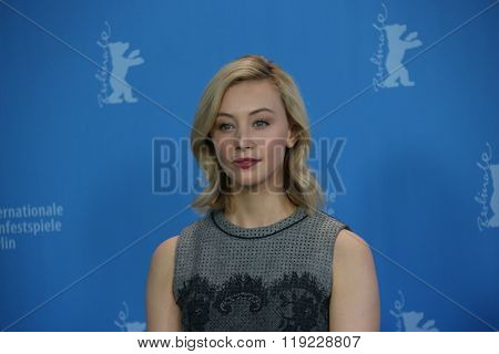 Actress Sarah Gadon attends the 'Indignation' photo call during the 66th Berlinale International Film Festival Berlin at Grand Hyatt Hotel on February 14, 2016 in Berlin, Germany.