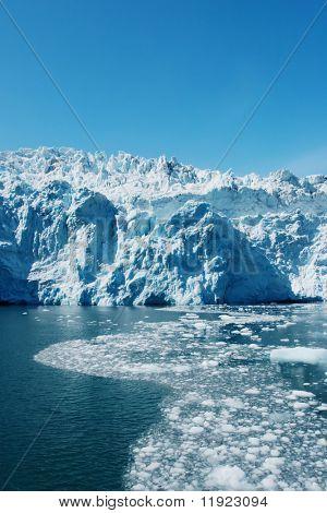 Scenic Hubbard Glacier in Alaska