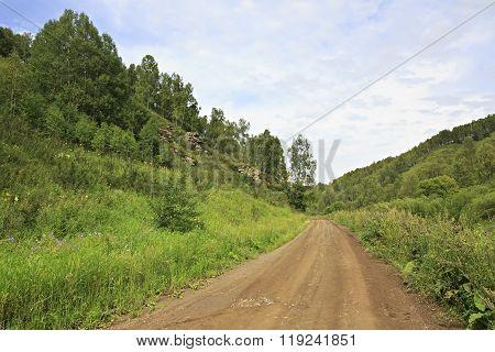Beautiful road among mountains.