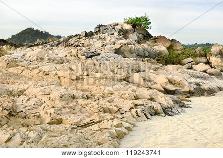 Panoramic view of nice river rock