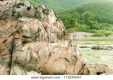 A beautiful river rocks