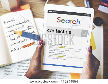 Contact Us Infromation Service Customer Care Concept