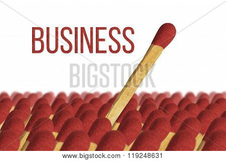 Business winner , stand out , match