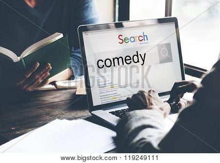 Comedy Fun Happiness Amusement Satire Cheerful Concept