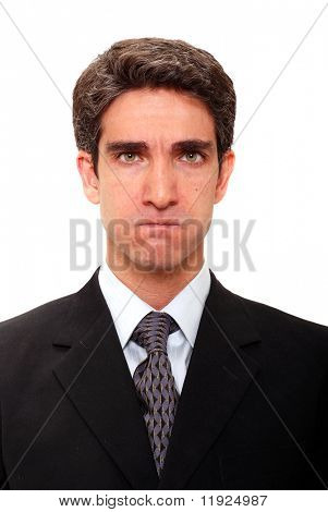 Businessman with angry facial expression