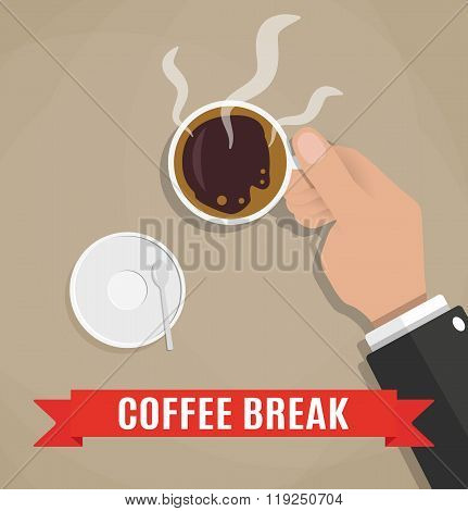 break for a cup of coffee