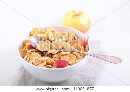 Muesli With Apple Slices, A Useful Breakfast