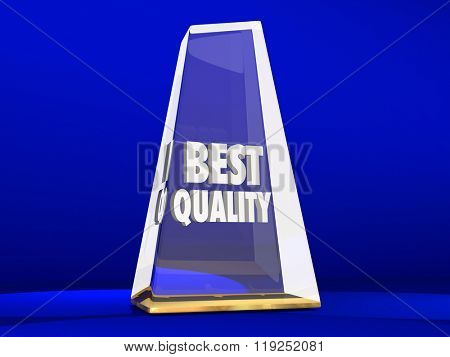 Best Quality Award Trophy Top Reputation Honor