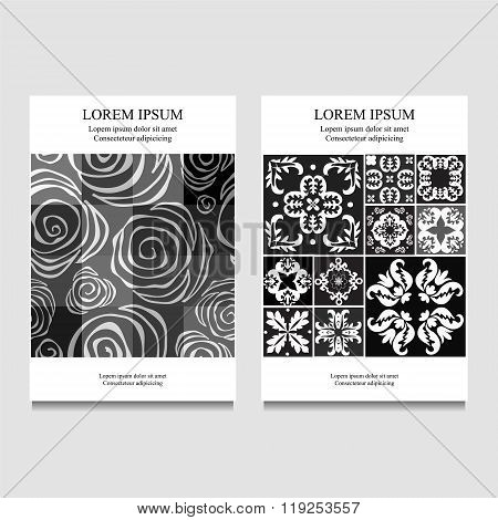 Stock Vector Business Template For Brochure, Card, Cover, Book With Patchwork Design