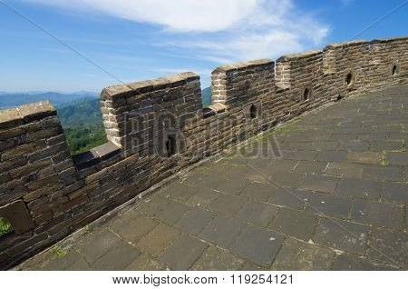 view of the Simatai Great Wall of China, Beijing, China