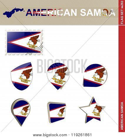 American Samoa Flag Set, Flag Set