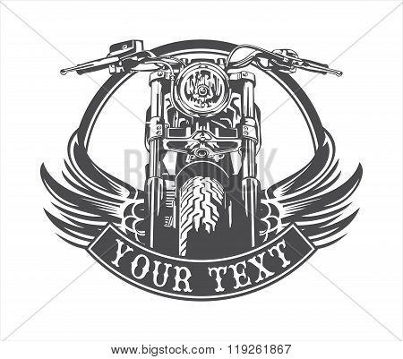 motorcycle wings circle