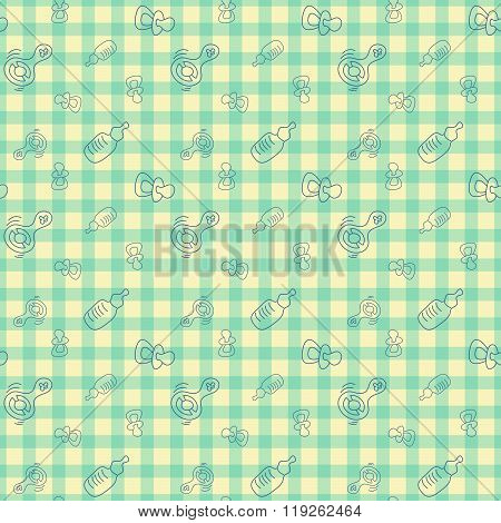 Vector Seamless Background For Baby